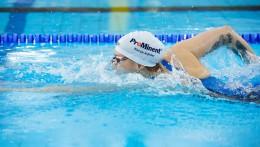 ProMinent jako sponsor jest widoczny na całym świecie - dzięki ubraniom sportowym i czepkom, które nosi Sarah.